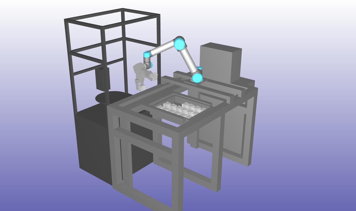 RoboDK導入後に作成したレイアウト設計イメージ